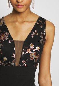 WAL G. - FLORAL MAXI DRESS - Suknia balowa - black - 4