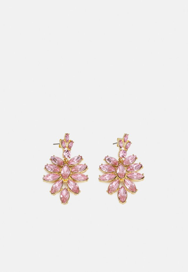 PCLEEZA EARRINGS - Kolczyki - gold-coloured/rose