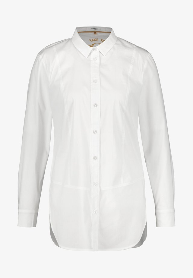 Button-down blouse - weiß/weiß
