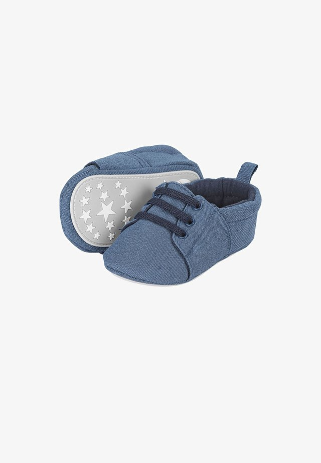 WINTER-KRABBELSCHUH - First shoes - marine