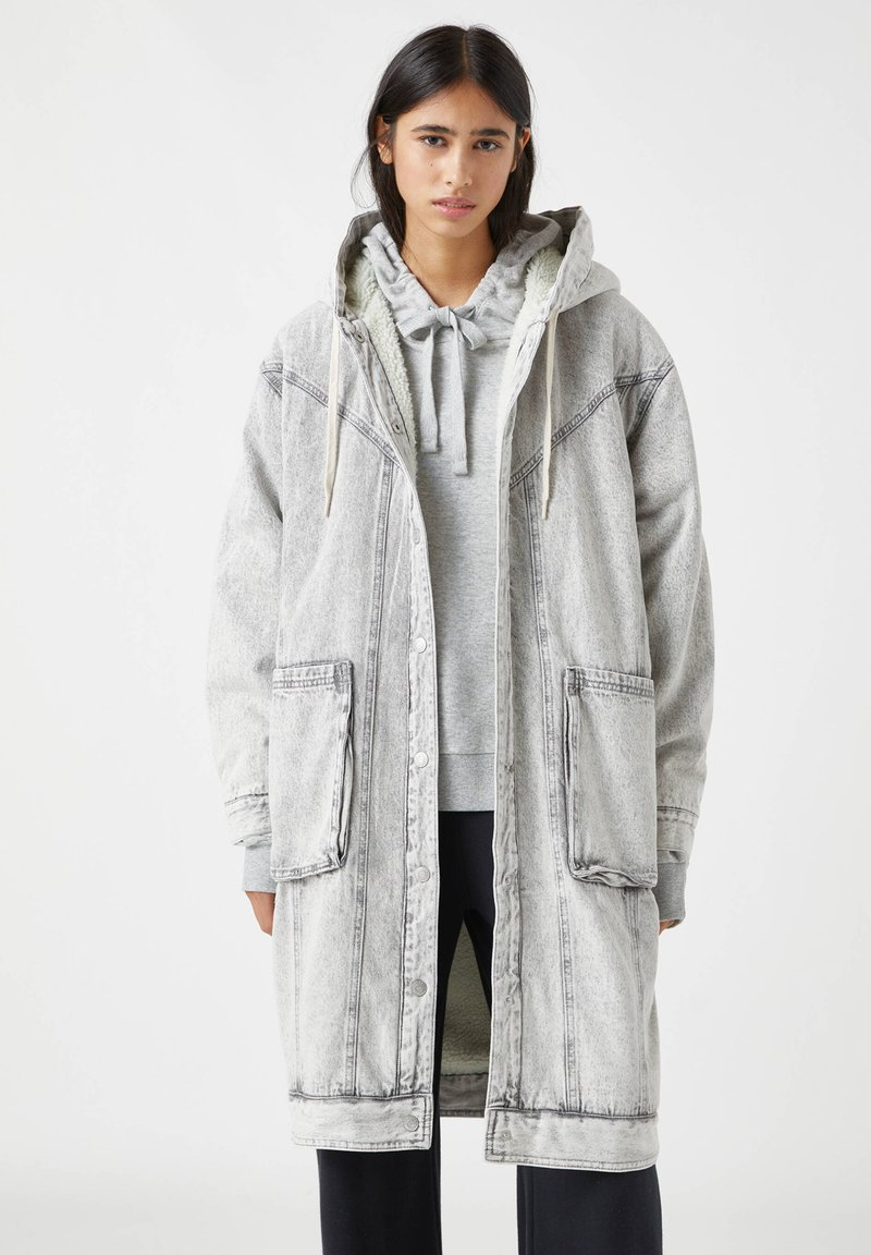 PULL&BEAR - Winter coat - mottled grey