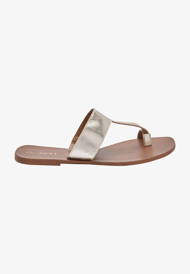 Next - T-bar sandals - gold