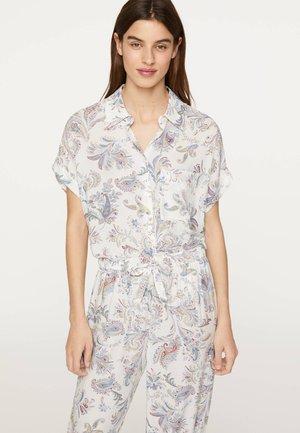 MIT BUNTEM PAISLEY-PRINT - Pyjama top - white