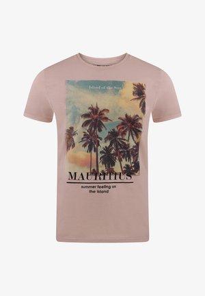 RIVLUKAS - Print T-shirt - rose palme (ajd)
