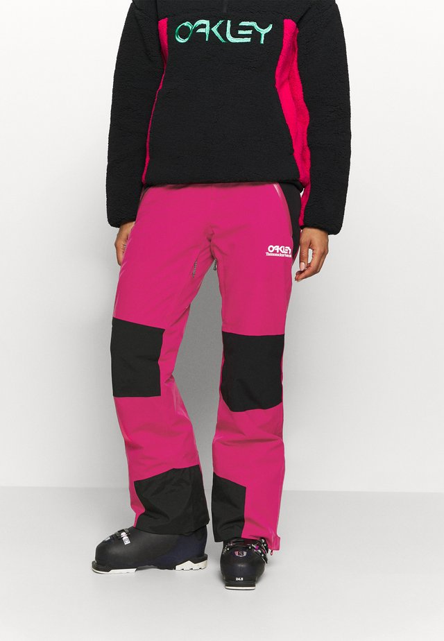 WOMENS INSULATED - Ski- & snowboardbukser - rubine red
