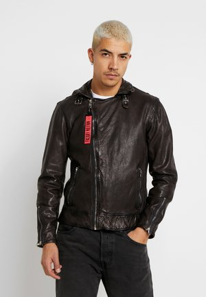 BENBLUE - Chaqueta de cuero - multiple brown