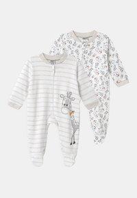 Jacky Baby - 2 PACK UNISEX - Pyžamo - white/beige - 0