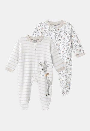 2 PACK UNISEX - Pyjamas - white/beige