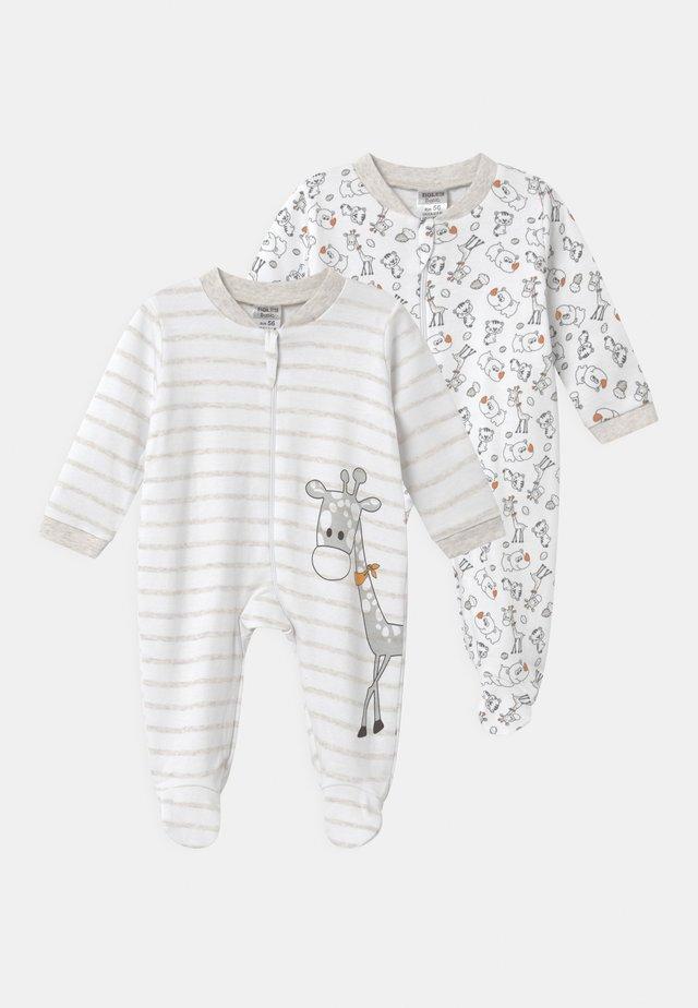 2 PACK UNISEX - Pijama - white/beige