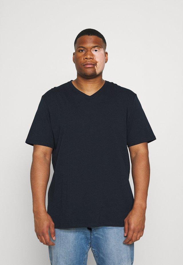 ESSENTIAL V NECK TEE - T-shirt basic - navy