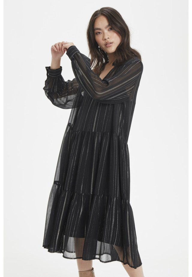 Vestido camisero - meteorite black