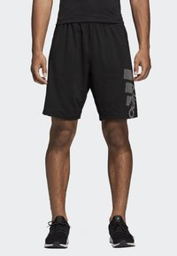 adidas Performance - 4KRFT Sport Graphic Badge of Sport Shorts - Krótkie spodenki sportowe - black - 0