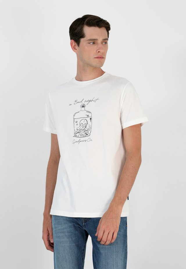 STITCH  - T-shirt con stampa - off white