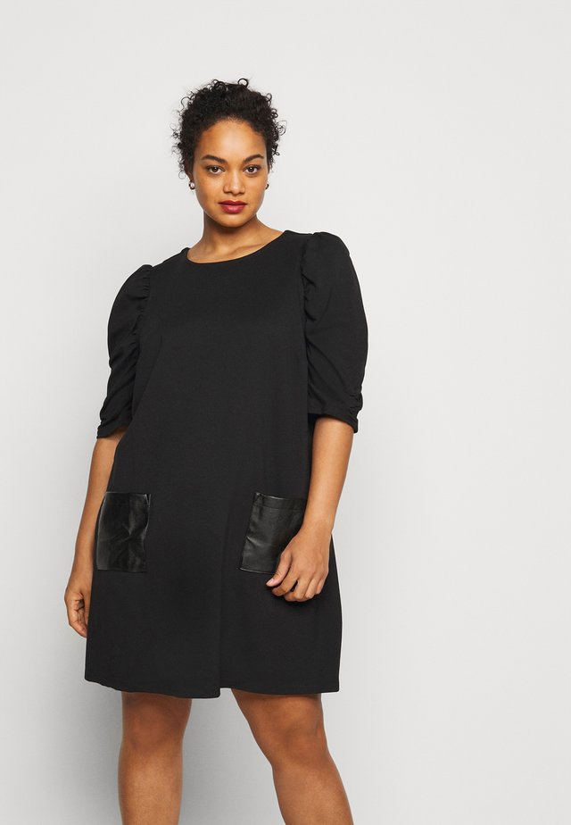 CURVE POCKET  - Jersey dress - black