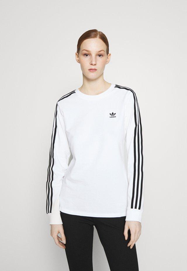 Top sdlouhým rukávem - white/black