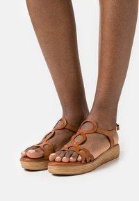 Musse & Cloud - NENUFAR - Platform sandals - brown - 0