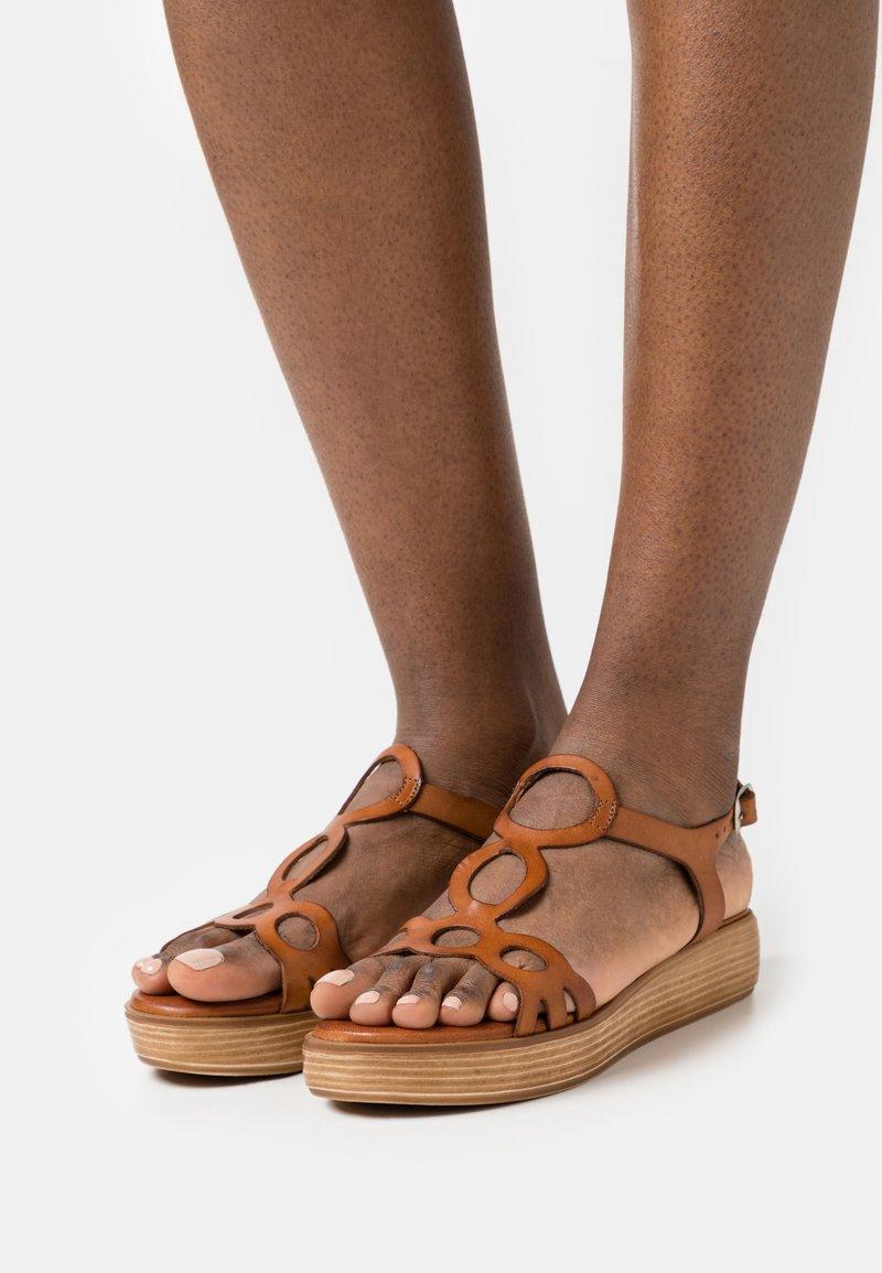 Musse & Cloud - NENUFAR - Platform sandals - brown
