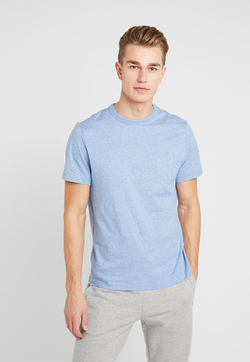 Farah - DENNIS SOLID TEE - T-shirt z nadrukiem - boy blue marl