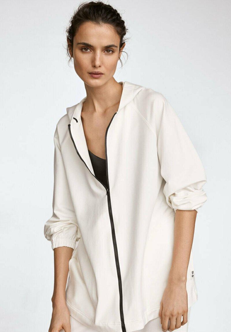 Massimo Dutti - Zip-up hoodie - white