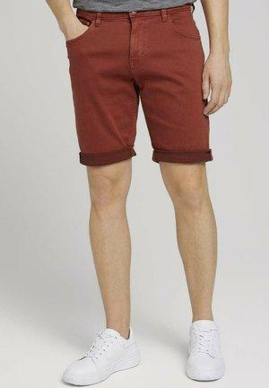 Denim shorts - chili oil red