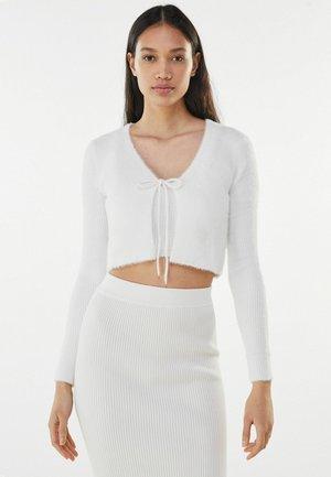 MIT SCHLEIFE - Cardigan - white