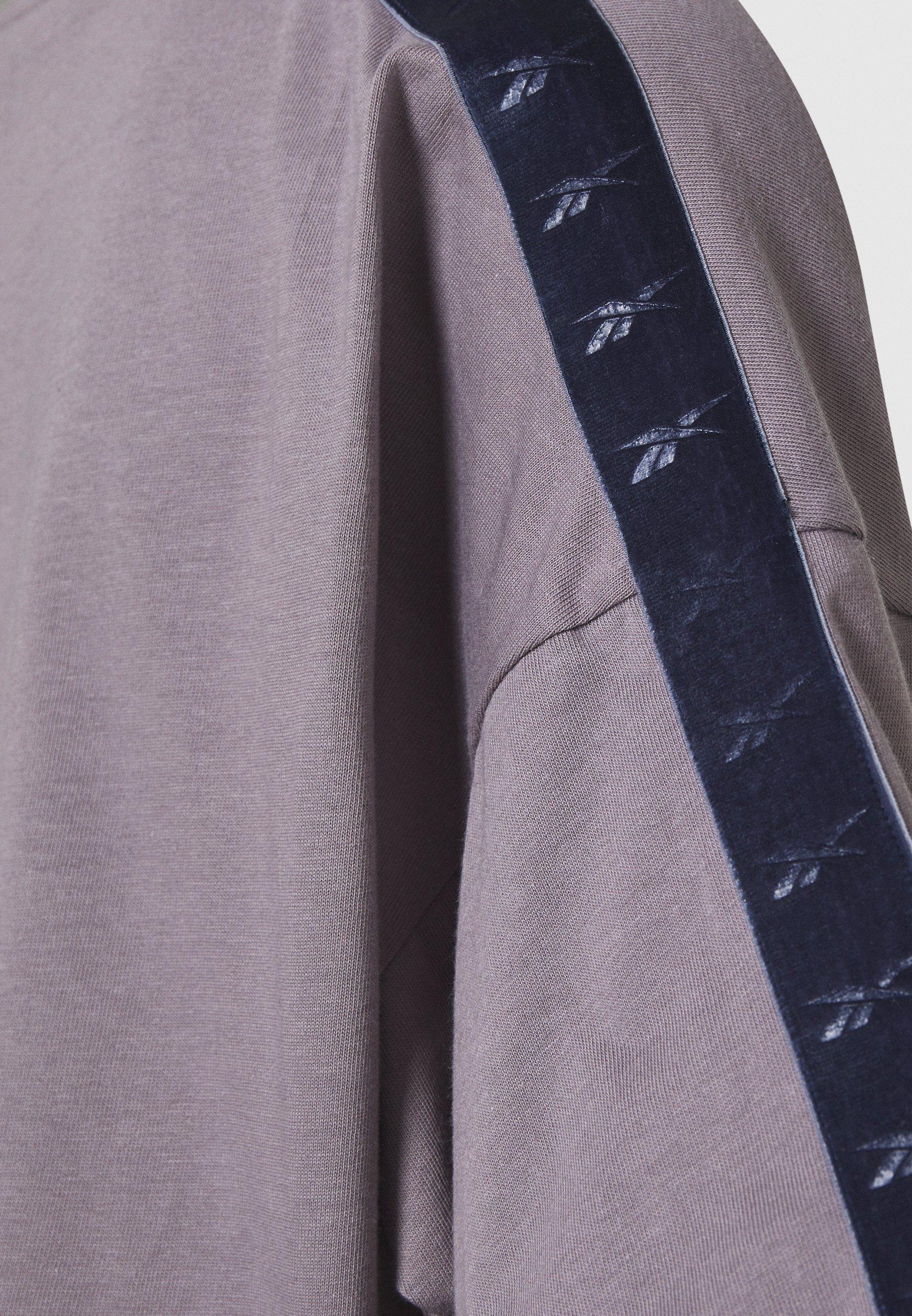 Reebok EASY CROP - Print T-shirt - grey n6T7M