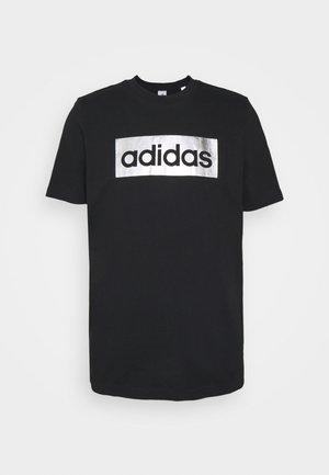 Camiseta estampada - black/silver metallic