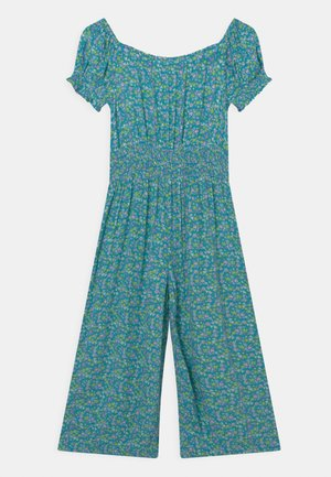 SHIRRED - Jumpsuit - turquoise