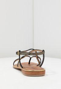 Les Tropéziennes par M Belarbi - MONACO - T-bar sandals - black/gold - 5