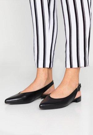 BARCELONA  - Slingback ballet pumps - black