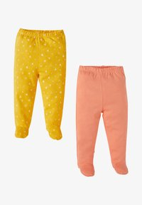 DeFacto - 2PACK - Trousers - yellow/peach - 0