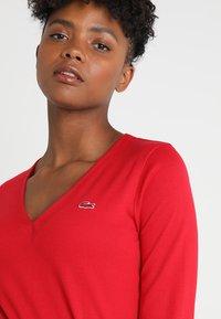 Lacoste - V-NECK - Långärmad tröja - imperial red - 4