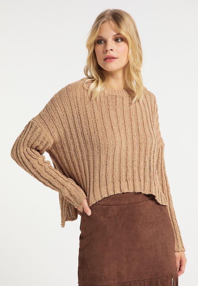 Sweter - kamel