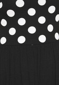 Anna Field - BOAT NECK PRINT DRESS WITH SOLID SKIRT - Trikoomekko - black/white - 5