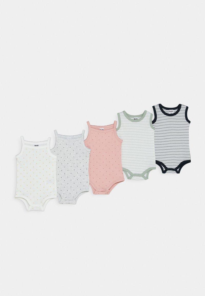 Cotton On - SINGLET BUBBYSUIT 5 PACK - Body - off-white