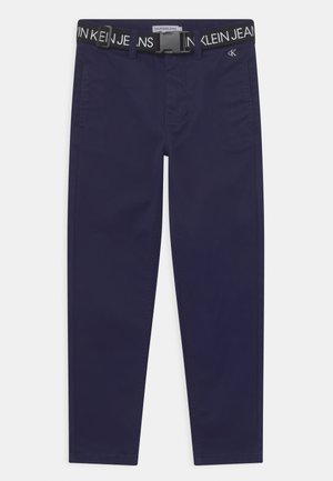 BELTED - Chinos - peacoat