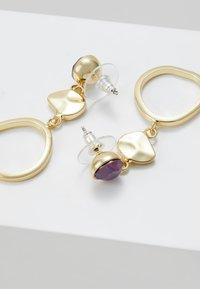 SNÖ of Sweden - LIW LONG MIX EAR - Earrings - gold-coloured/purple - 2