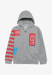 Guess - TODDLER HOODED ACTIVE ZIP - Zip-up hoodie - light heather grey - 3