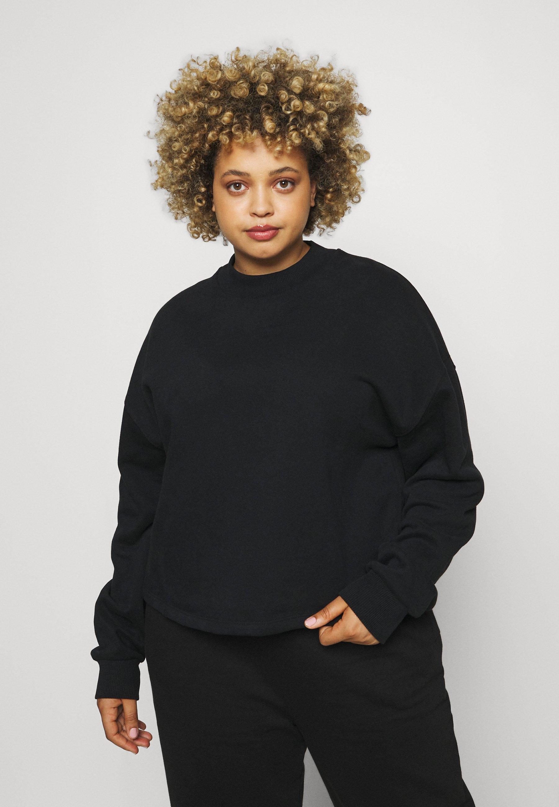 Women HIGH NECK CROPPED - Sweatshirt