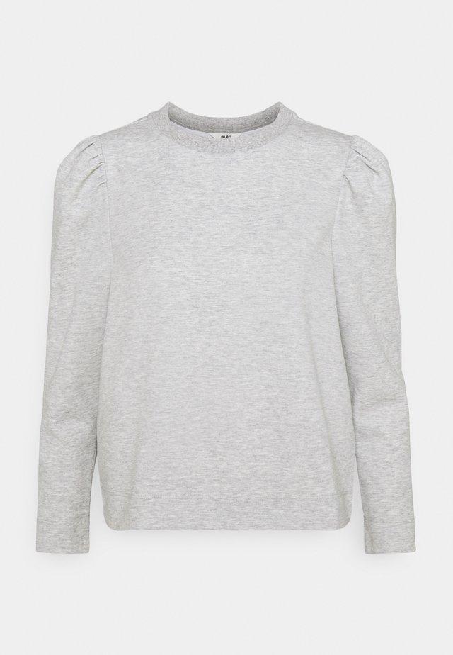 OBJMEZA - Jumper - light grey melange