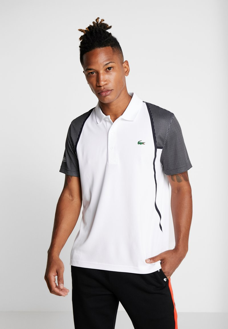 Lacoste Sport - DH4776  - Sports shirt - white/black