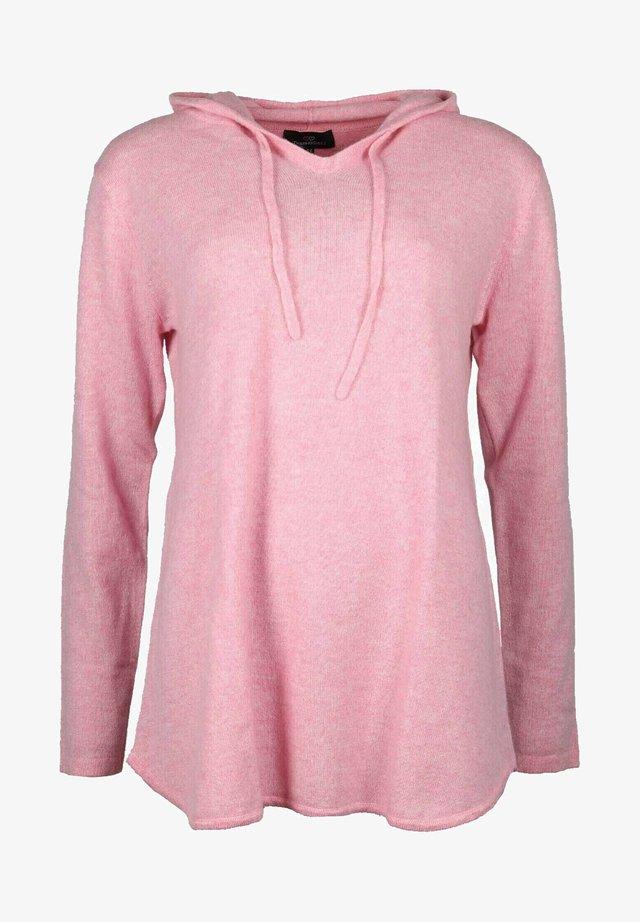 Hoodie - melange pink