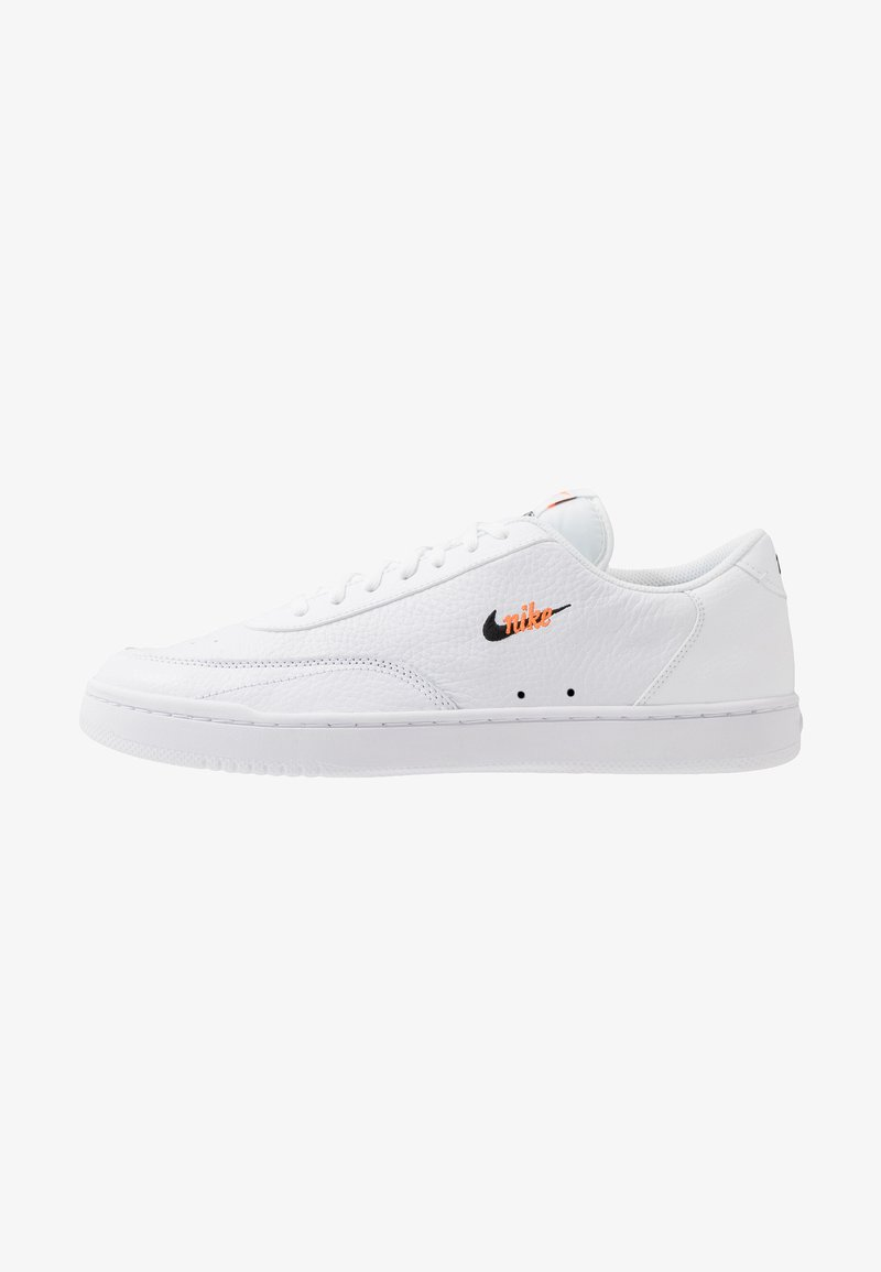 Nike Sportswear - COURT VINTAGE UNISEX - Zapatillas - white/black/total orange