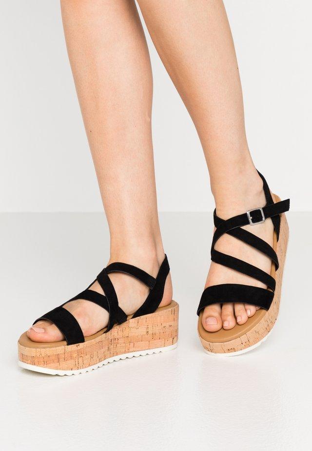 HAYLO - Sandály na platformě - black
