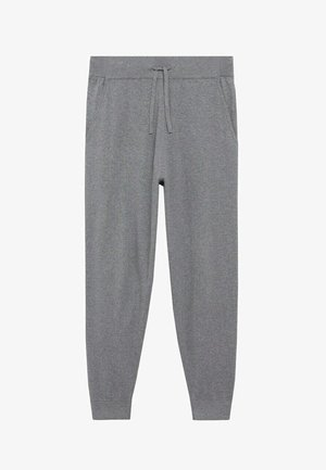 Pantaloni sportivi - mittelgrau meliert