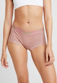 Pieces - PCLOGO LADY BOXERS FLOWER 4 PACK  - Panty - bright white - 1