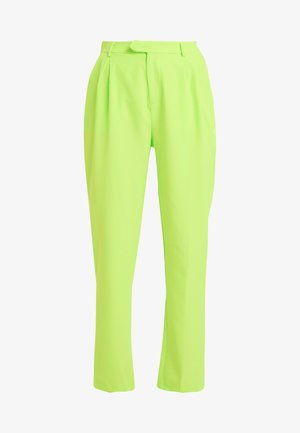 HIGH WAISTED LEG TROUSERS - Kalhoty - neon green