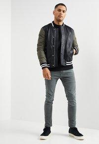 Be Edgy - BESASCHA - Leather jacket - black/oliv - 1