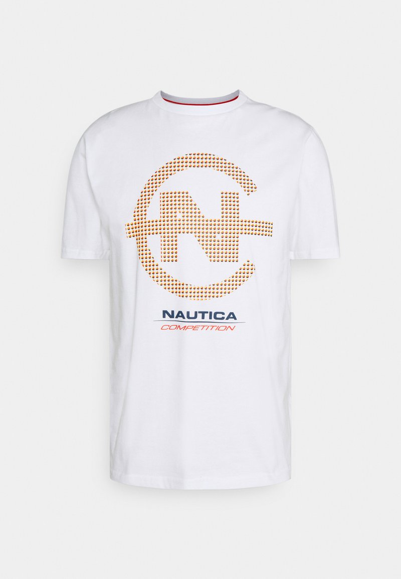 NAUTICA COMPETITION - BINNACLE - Print T-shirt - white