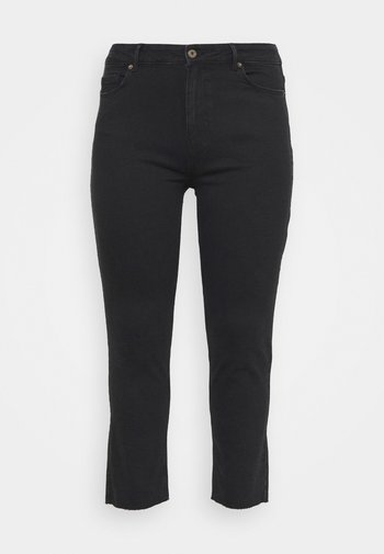 PCLUNA STRAIGHT - Straight leg jeans - black